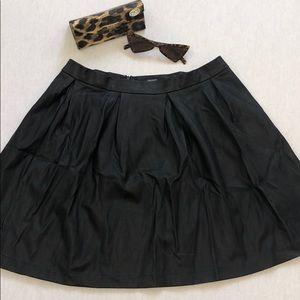 Faux leather black skater skirt. High waisted.